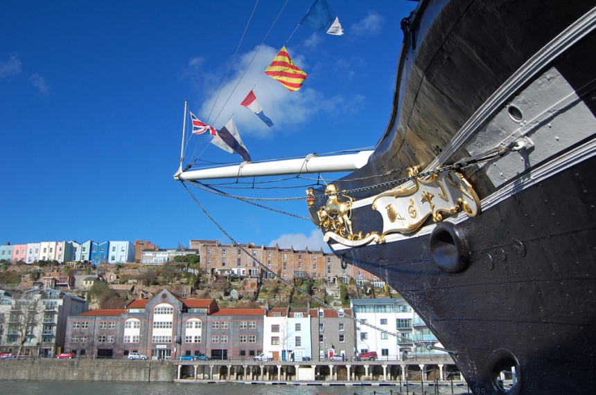 Bow of the SS Great Britain in Bristol harbour / Shutterstock.com