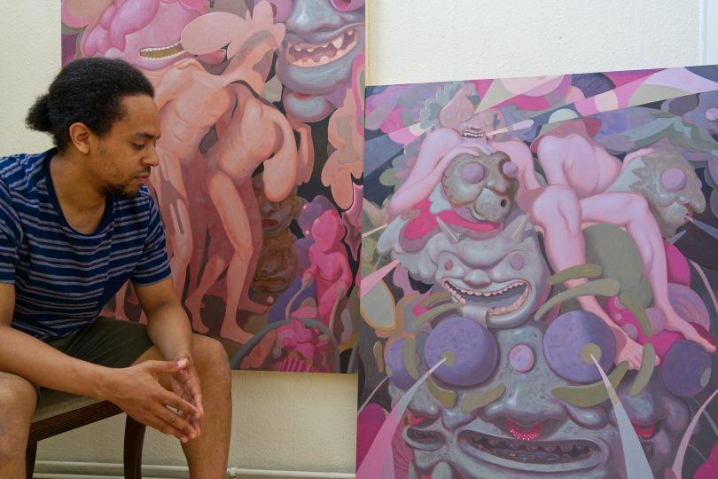 Jarvis in his studio. © Jarvis Brookfield