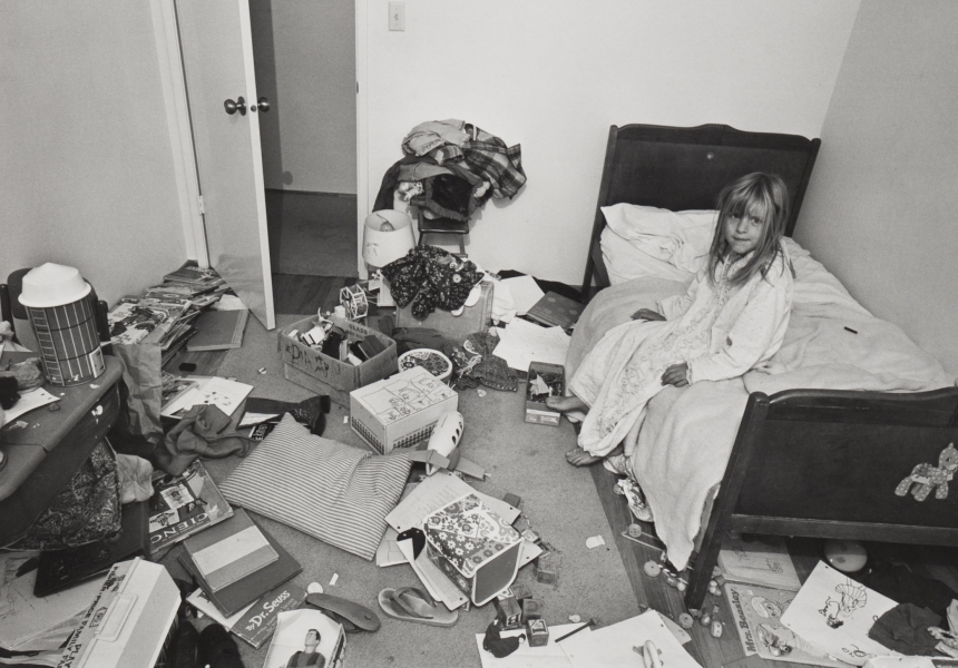 "Bill Owens, ""I wanted Christina to learn some responsibility for cleaning her room, but it didn't work"", c 1973. Wilson Centre for Photography."