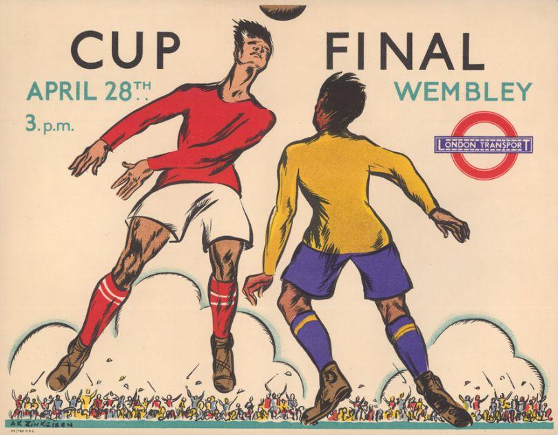 Cup Final, by Anna Katrina Zinkeisen, 1934