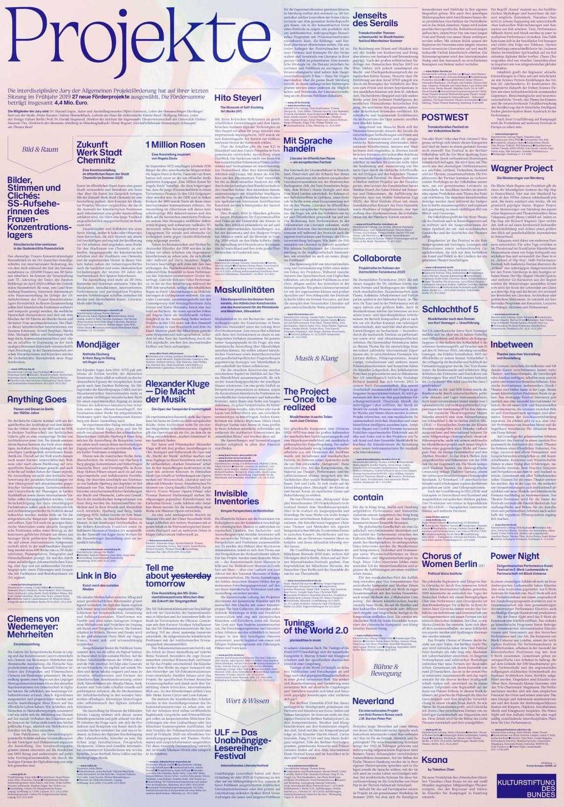 Bureau Est, kulturstiftung des bundes - issue 33, 2019