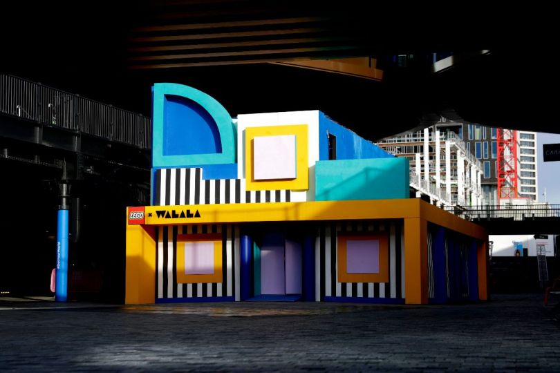 Camille Walala's HOUSE OF DOTS installation for LEGO at Coal Drops Yard from 28 January - 2 February. Photo credit Getty Images