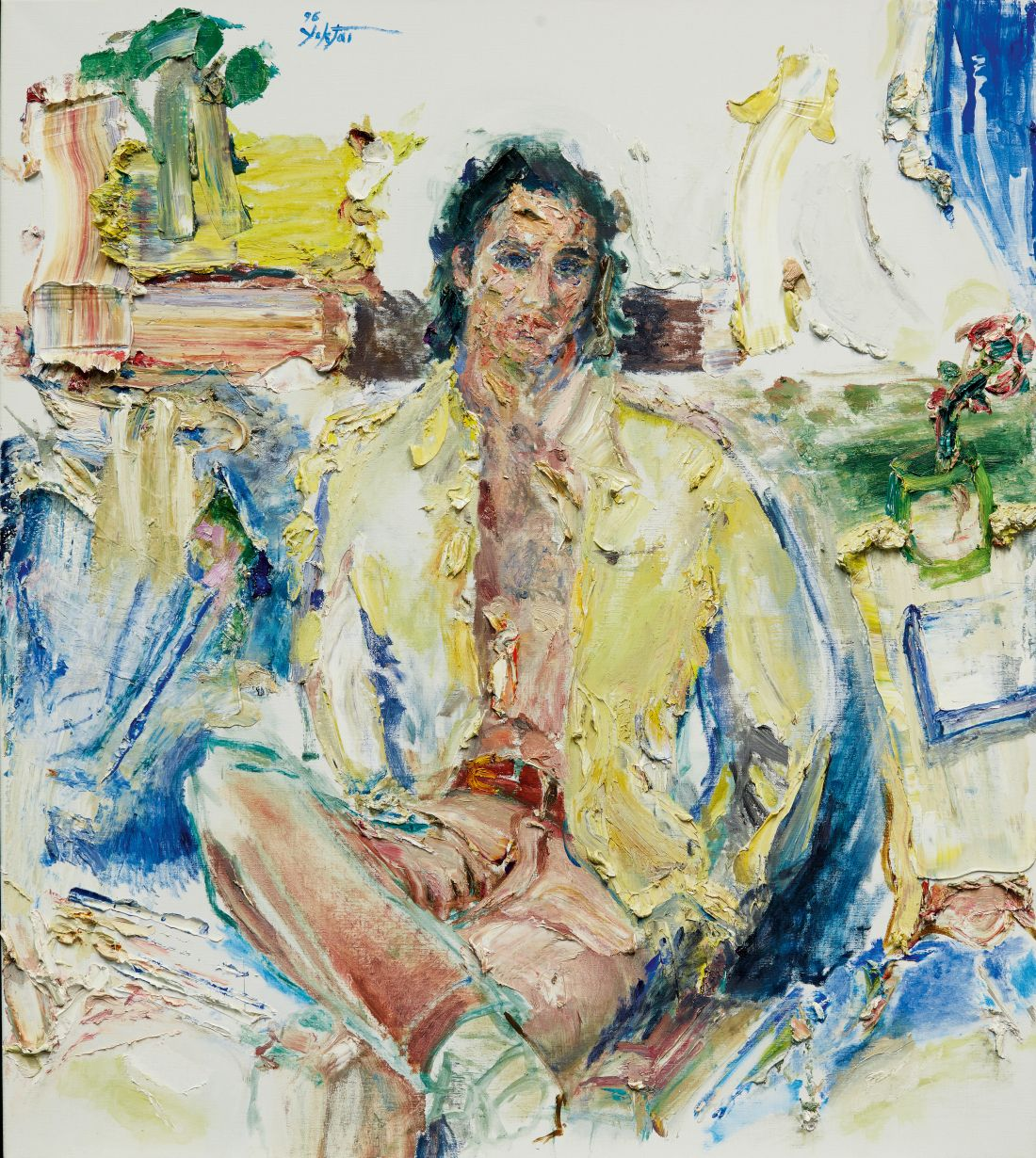 Enchanting exhibition of unseen artworks by pioneering painter and poet, Manoucher Yektai