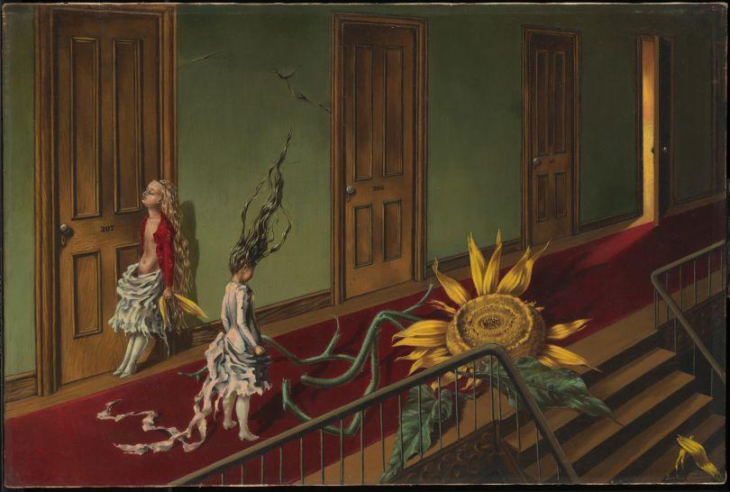 Eine Kleine Nachtmusik by Dorothea Tanning, 1943. ©-ADAGP,-Paris-and- DACS,-London-2019