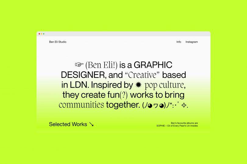 Ben Eli, Ben Eli Studio, 2020