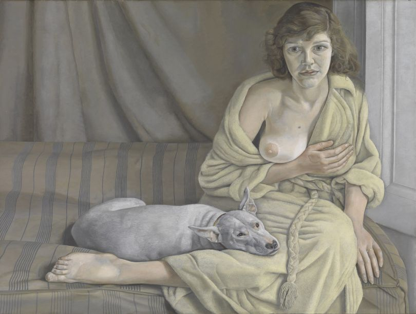 Lucian Freud (1922-2011) Girl with a White Dog 1950-1 Oil paint on canvas, 762 x 1016 mm © Tate