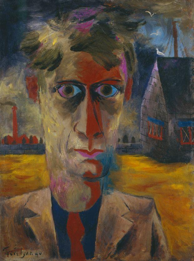 Julian Trevelyan, Self-Portrait 1940, Oil on canvas, 61 x 46.4 cm © National Portrait Gallery / The Julian Trevelyan Estate