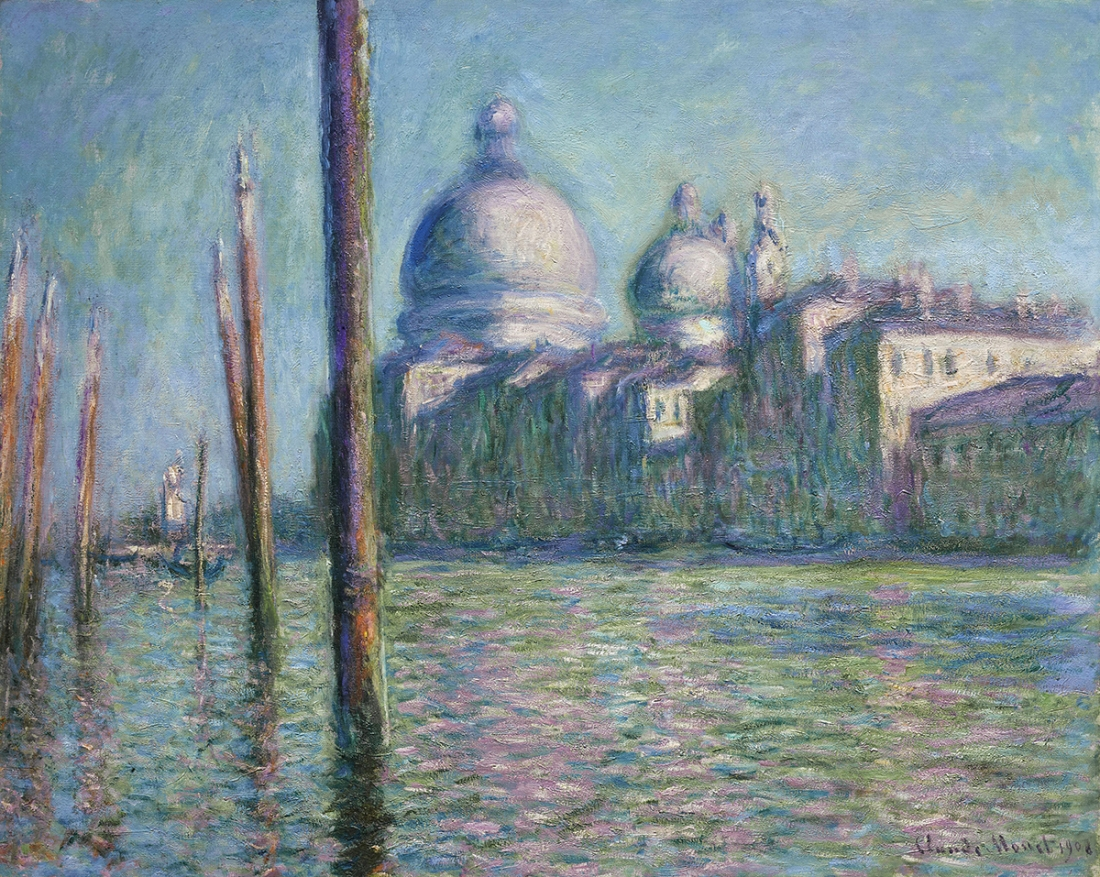 Claude Monet The Grand Canal (Le Grand Canal), 1908 Oil on canvas 73 × 92 cm Nahmad Collection, Monaco © Photo courtesy of the owner