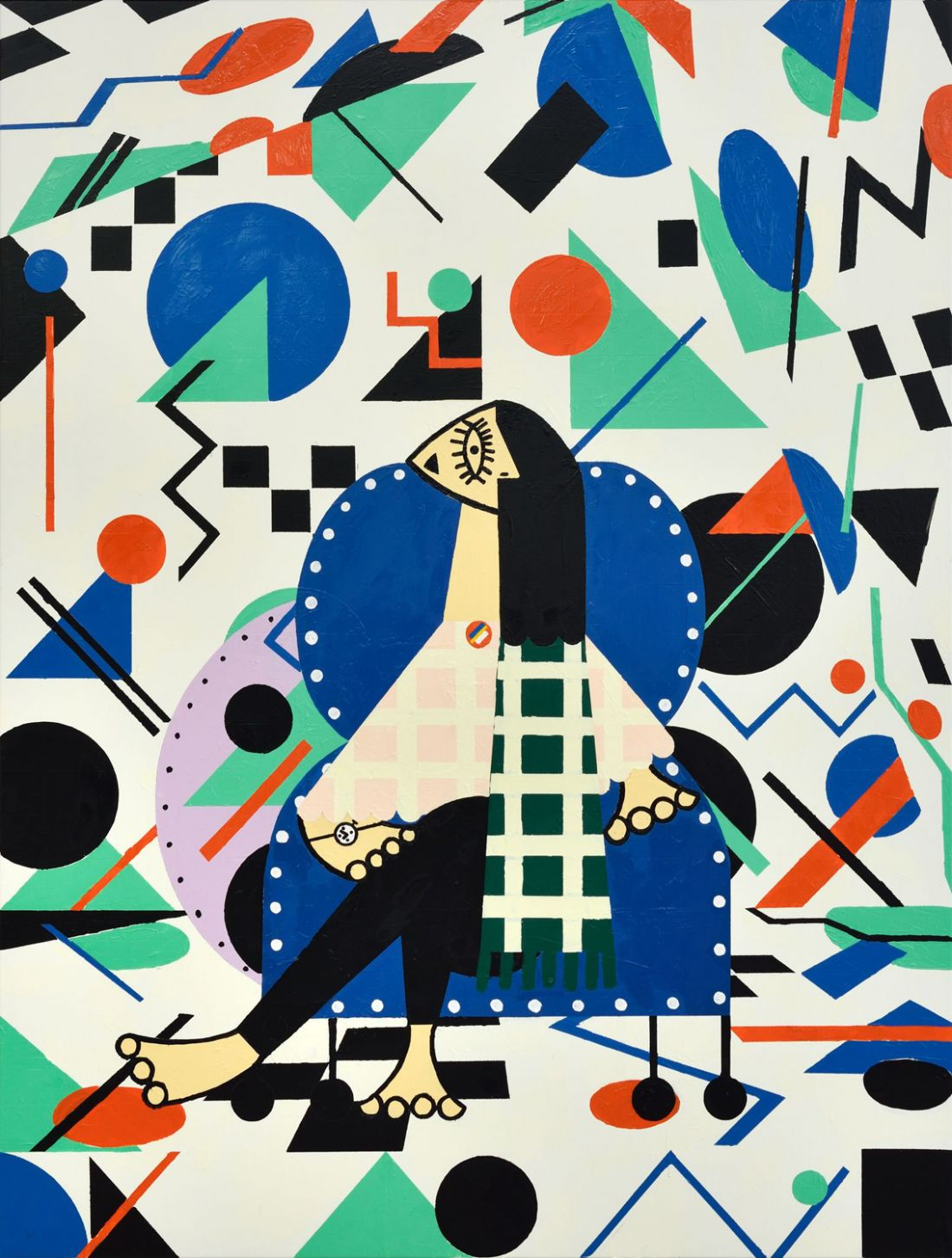 Farah Atassi's colourful geometric paintings that blend figurative with abstract art