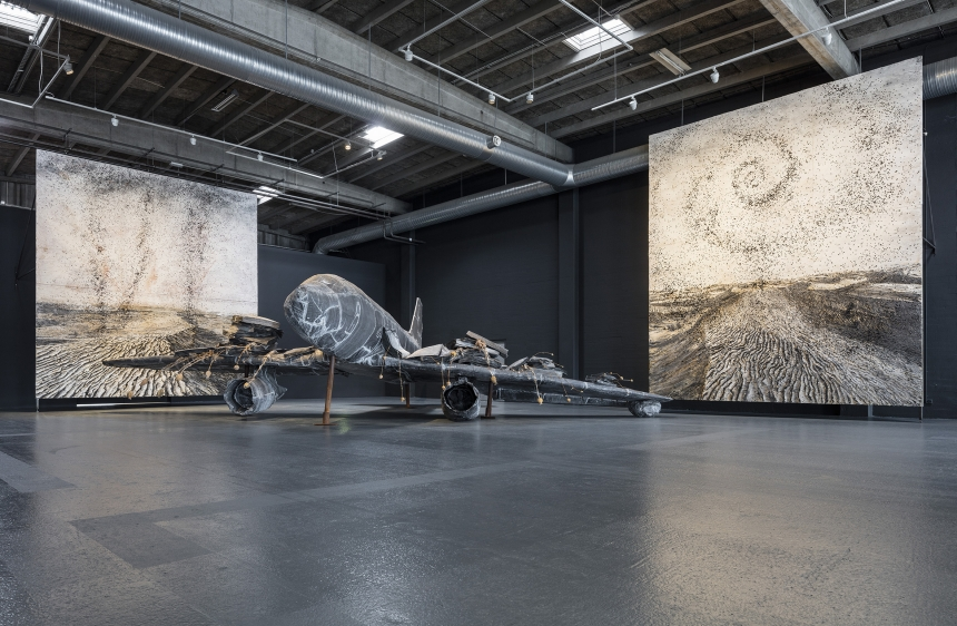 Anselm Kiefer. For Louis-Ferdinand Céline: Voyage au bout de la nuit. Installation shot, Copenhagen Contemporary 2016. Photo: Anders Sune Berg