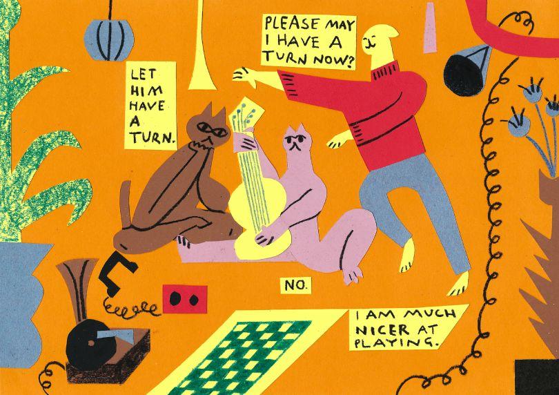 Hugo Bilton, Poster for Chalkpit Records, 2021