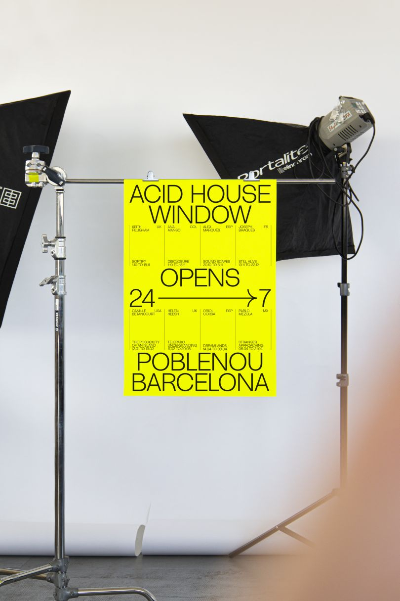 Folch's 'fluid and energetic' smiley typeface for Acid House Barcelona