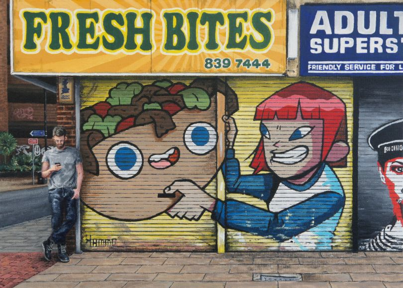 Fresh Bites, corner of Oldham and Hilton, 2021 © Peter Davis