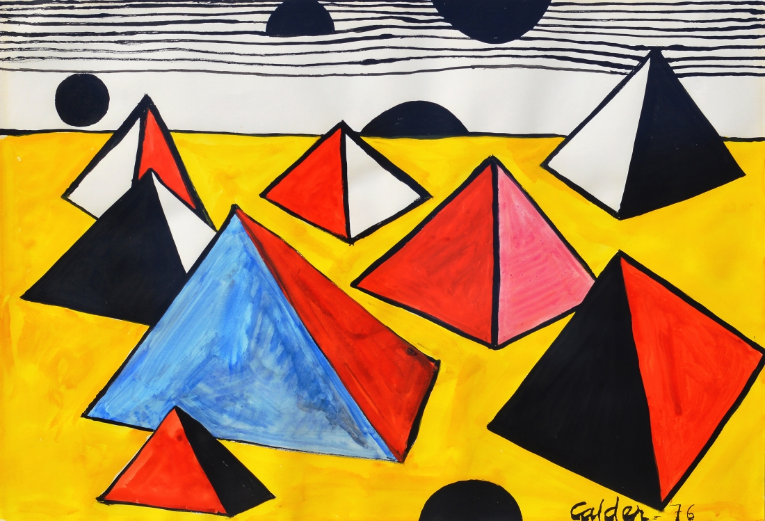 Pyramids, 1975 | Courtesy of Saatchi Gallery © Alexander Calder