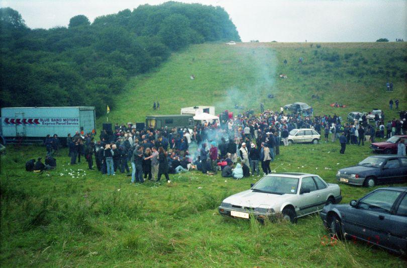 Party in a quarry, near Brighton 2000 © Seana Gavin