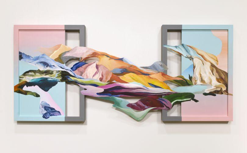 Wang Ziling, Further Than Ever, 2019, Acrylic on wood panel (43 x 97 x 3.5 cm)