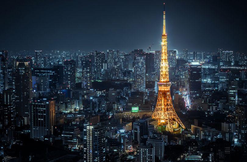 Third Place: 'Tokyo Tower' by Scott Sim/Photocrowd.com - Tokyo, Japan