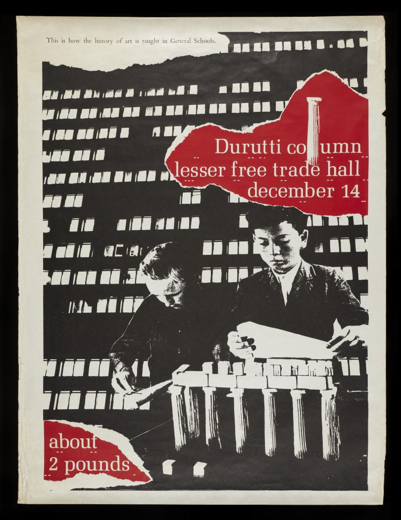 Poster to promote Durutti Column show at Lesser Free Trade Hall, Manchester, December 14 1979 © The Board of Trustees of the Science Museum