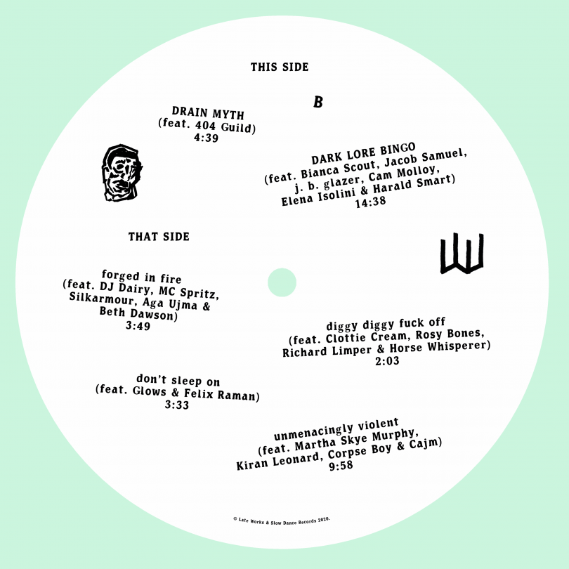 Late Works: Of Noise, B side sticker