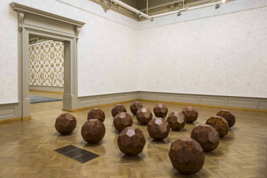 Untitled, 2012, huali wood, 20 elements, 68 × 67.5 × 63 cm each © Studio Ai Weiwei
