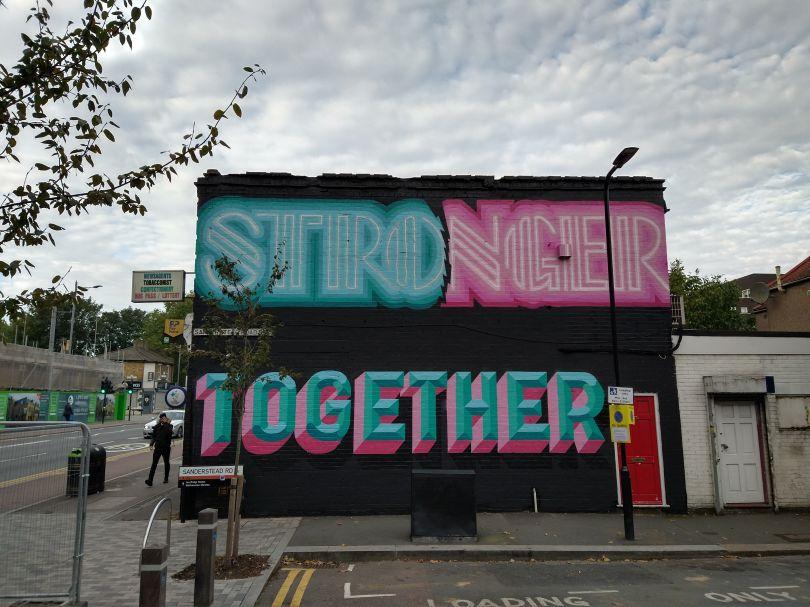 Rachel Joy & Ben Eine, London Mural Festival, 187 Lea Bridge Road, Leyton