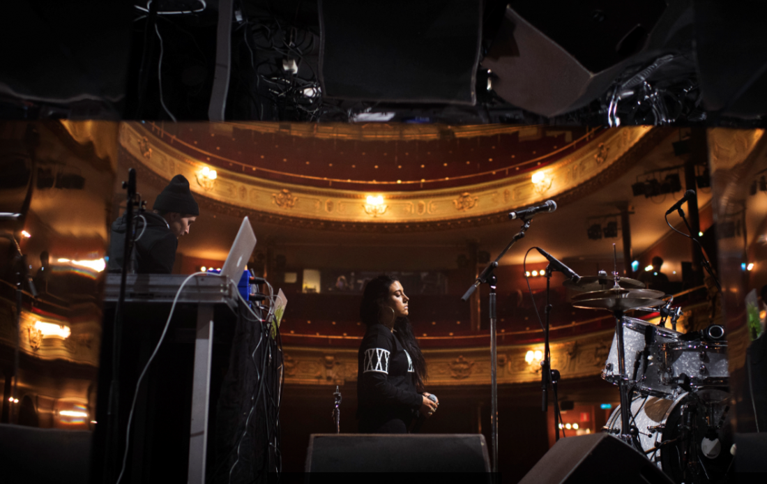 Maxida Märak during a soundcheck before her night performance at Södra Teatern on December 9, 2016 in Stockholm, Sweden. Maxida Märak is proud to be Sami and has made strong political stands against discrimination.  Joel Marklund / BILDBYRÅN