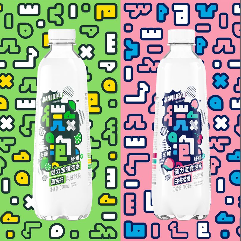 ianlibao Wepop Sugar-free Sparkling Water by Tiger Pan. Silver A' Design Award Winner in the Packaging Design Category, 2019-2020.