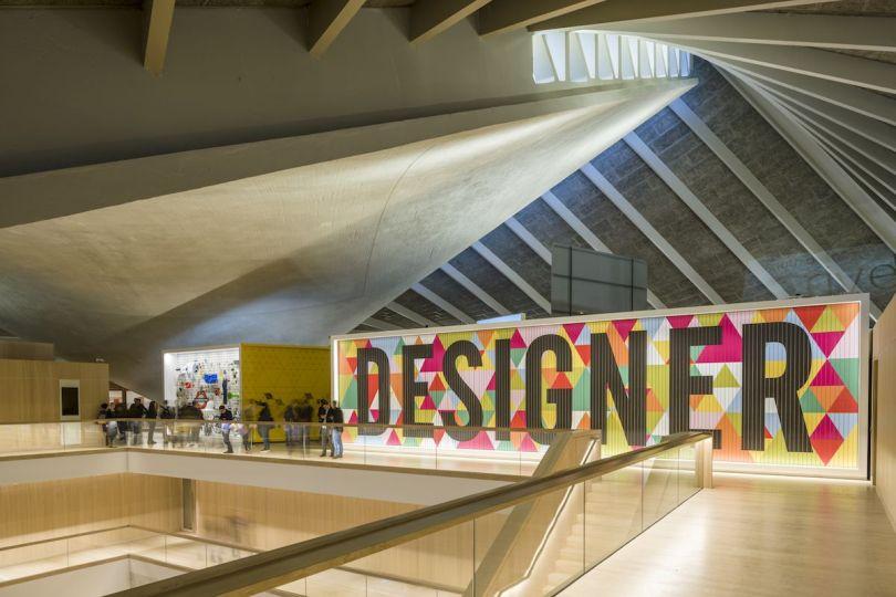 Morag Myerscough's installation for the Design Museum. Photography © Gareth Gardner