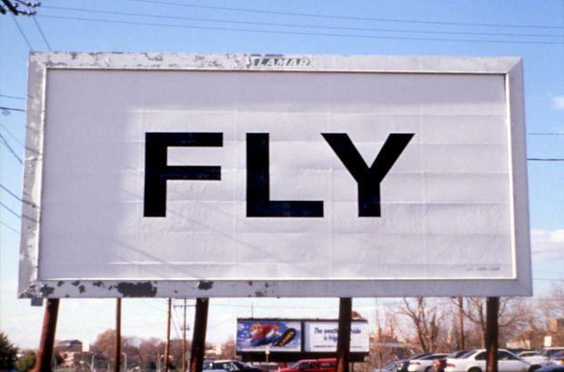 Yoko Ono, FLY (1996), billboard installed in Richmond Virginia. Photo by Stephen Salpukas. Courtesy of Yoko Ono.