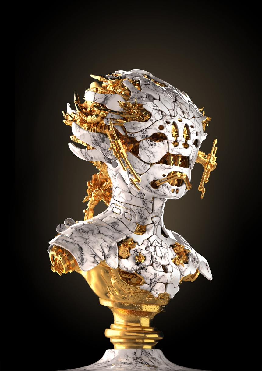 Human Mutation Project: Nick Ervinck's 3D printed cyborg sculptures of the future