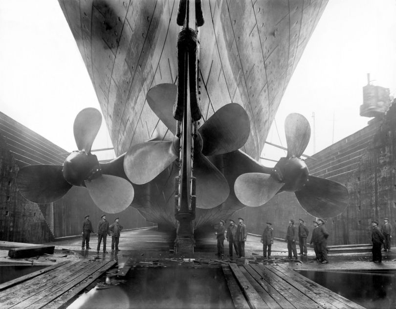 The Titanic in dry dock c. 1911 © Getty Images