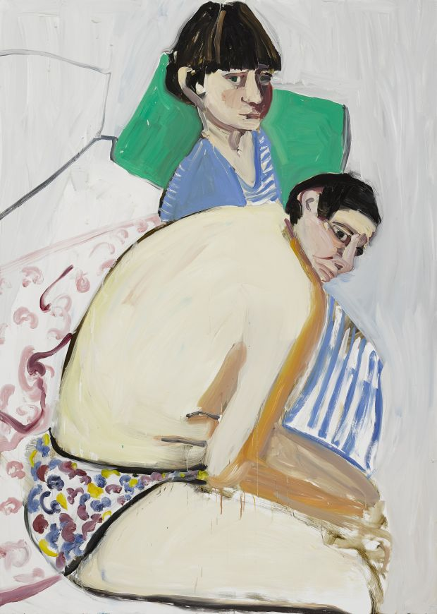 The Squid and the Whale, 2017 Oil on board 214 x 152 cm 84 1/4 x 59 7/8 in  © Chantal Joffe  Courtesy the artist and Victoria Miro, London / Venice