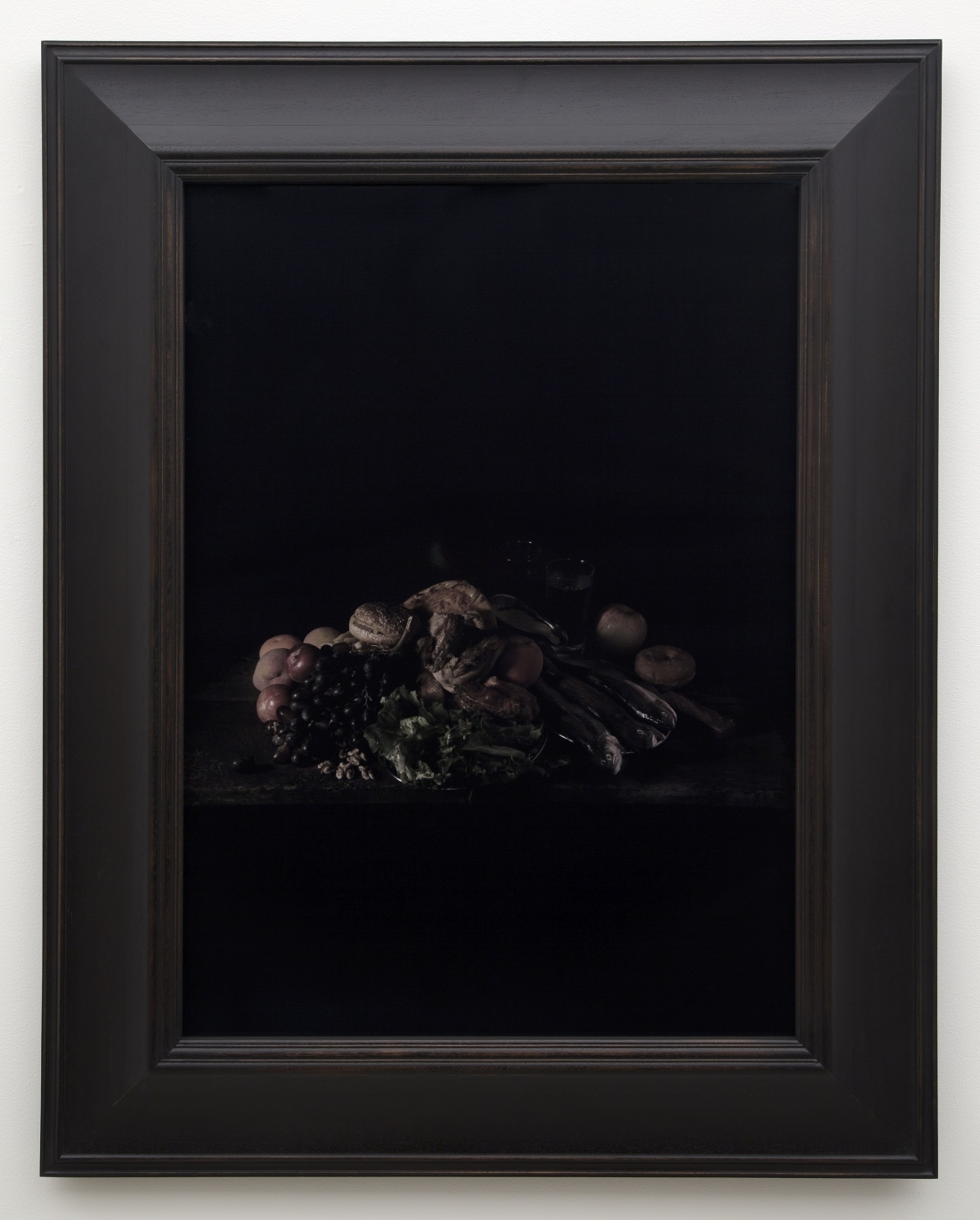 Mat Collishaw, Last Meal on Death Row, Texas (Juan Soria), 2011, C-type photographic print, Frame Red Grandis timber, rubbed back with black lacquer finish, 89 x 64 cm (35 x 25 ¼ in).