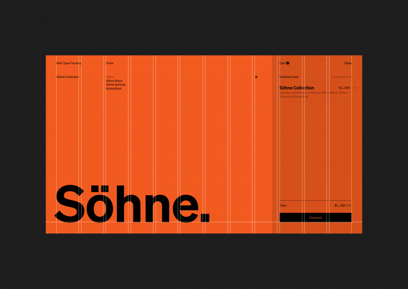 Type foundry Klim launches a new typeface, Söhne, along with a gorgeous new website