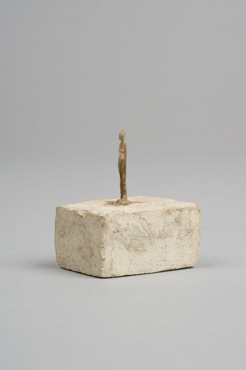 Very Small Figurine  c.1937-1939 Plaster, traces of colour 4.5 x 3 x 3.8 cm Collection Fondation Alberto et Annette Giacometti, Paris © Alberto Giacometti Estate, ACS/DACS, 2017