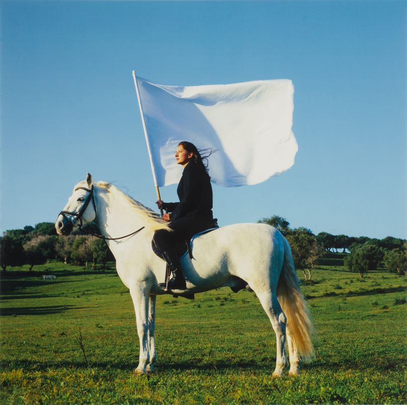 Marina Abramović, The Hero, 2001. National Museum of Women in the Arts, Gift of Heather and Tony Podesta Collection, Washington, D.C. © Marina Abramovic Archives Photo: Lee Stalsworth