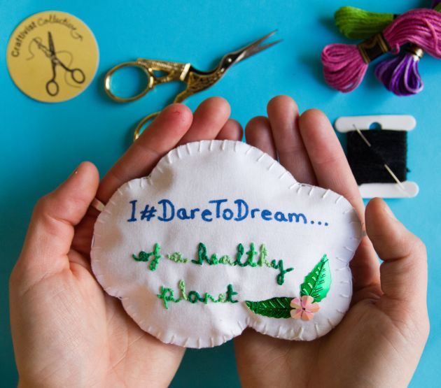 22 September 2019, Drop-in Craftivism Workshop #DaretoDream, Heritage Open Days @ People's History Museum © Photo by Robin Prime. All images courtesy of People's History Museum