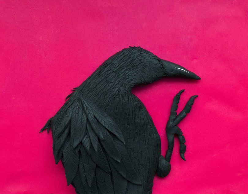 Original photograph: Erimo Cape, 1976, from 'Solitude of Ravens' by Masahisa Fukase rendered in Play-Doh © Eleanor Macnair