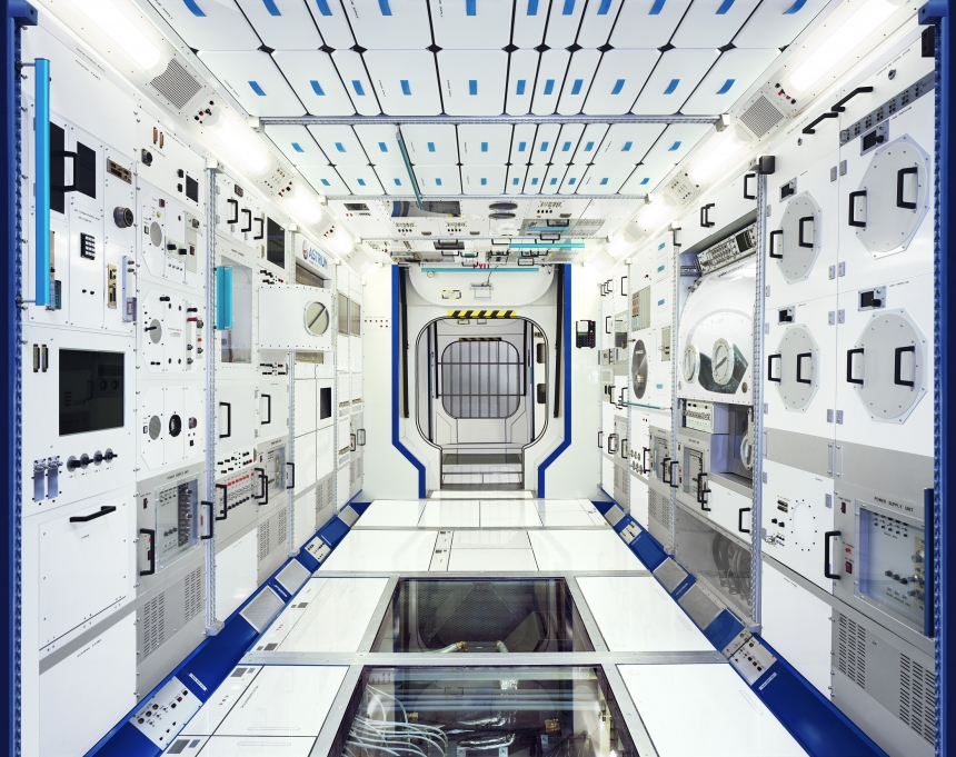 Full-scale model of an ISS module (Airbus Defence and Space, Bremen @ Edgar Martins