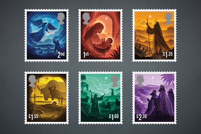 Us Postage Christmas 2021 Stamps Royal Mail Unveils Its Christmas Stamps For 2019 Designed By Charlie Smith Design Creative Boom