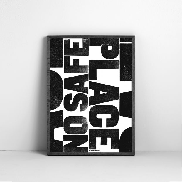 Limited edition screen print by Anthony Burrill, to benefit those impacted by the Australian bush fires.