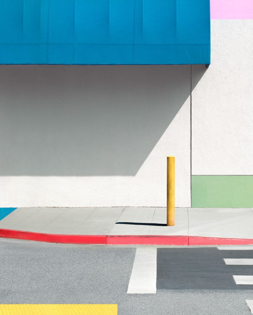 Blue Awning with Yellow, 2017 © George Byrne