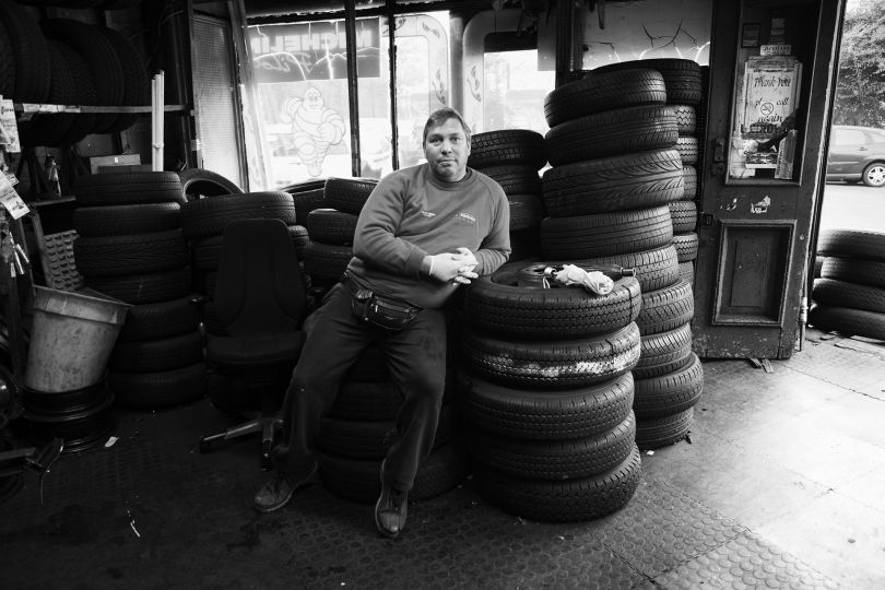 Steve, the owner of a former shop he and his family ran for 50 years. Chatsworth Road, Hackney - 2010