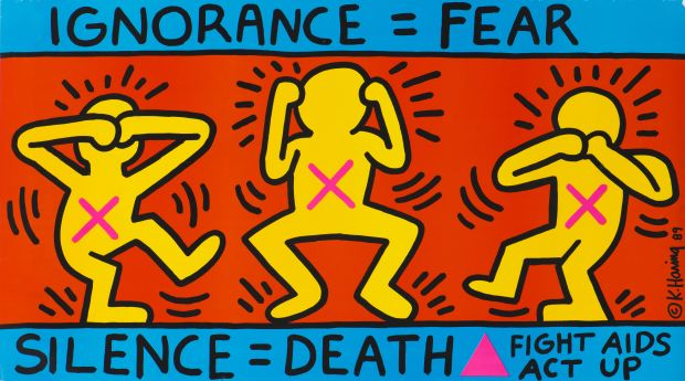 Keith Haring, 1958–1990 Ignorance = Fear 1989 Poster 660 x 1141 mm Collection Noirmontartproduction, Paris