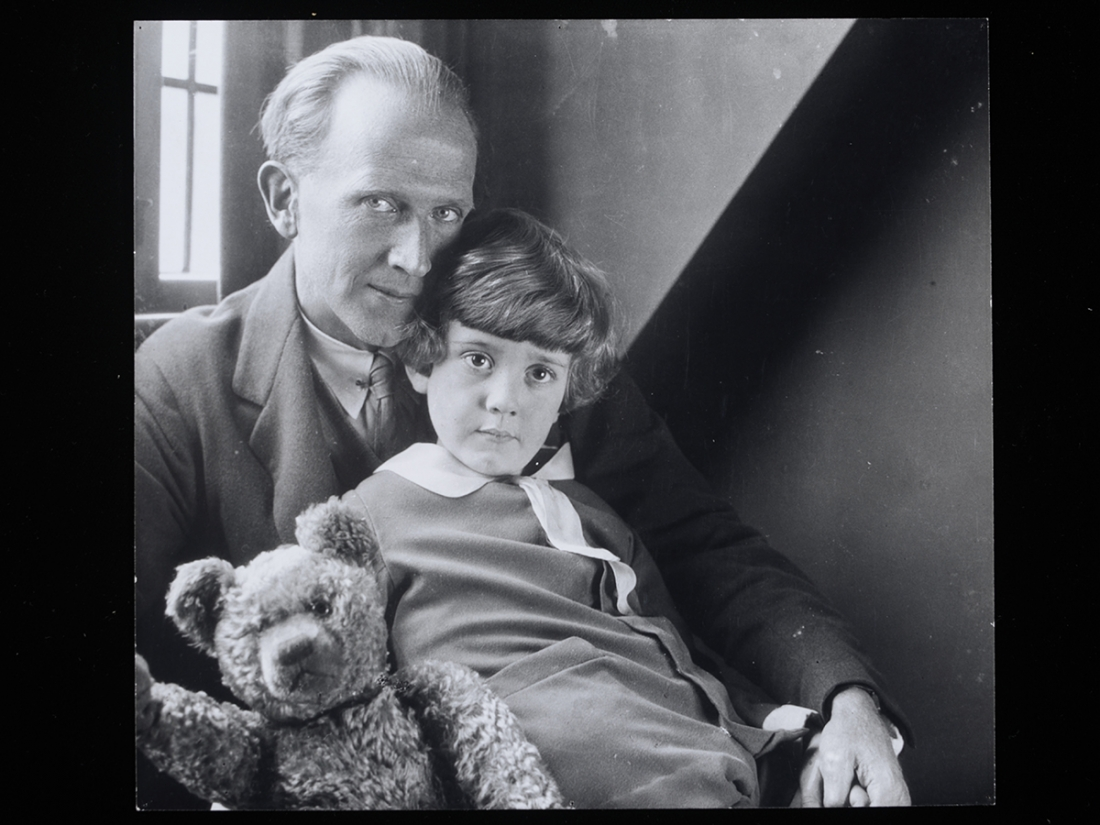 A.A. Milne, Christopher Robin Milne and Pooh Bear, by Howard Coster, 1926 © National Portrait Gallery