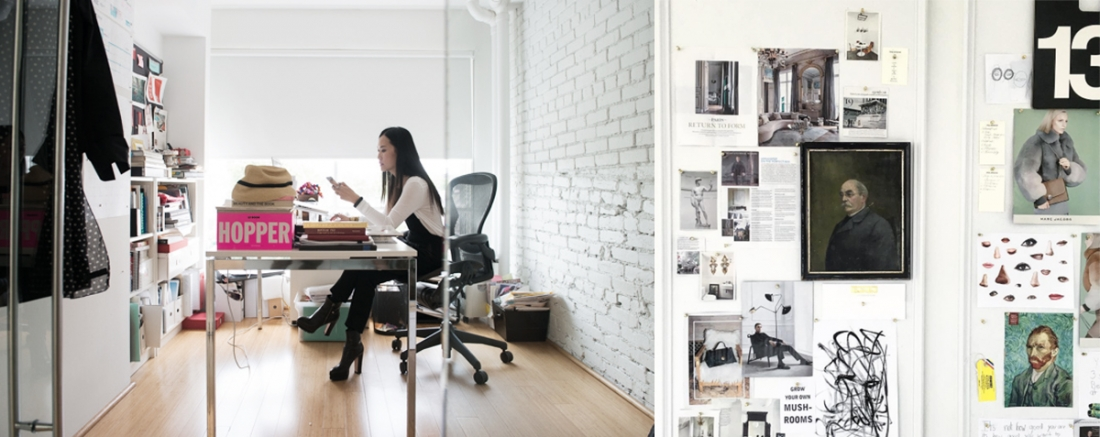 """Pum's """"messy"""" office and inspiration board"""