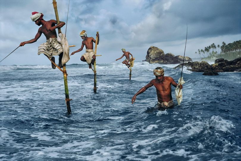 Steve McCurry - 'Fishing Men in Sri Lanka'