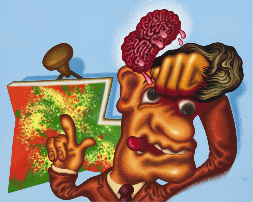 Peter Saul, Art Appreciation, 2016, acrylique sur toile, 162 x 203 cm, © Peter Saul, Collection privée, courtesy Michael Werner Gallery, New York and London