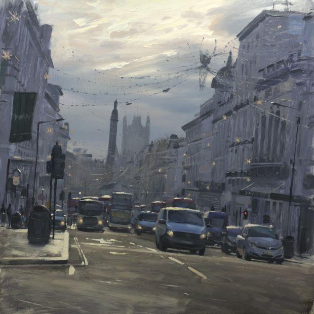 Regent Street St James's with Xmas lights, December © Tom Hughes