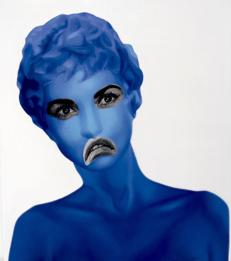 Blue Janet, oil on canvas, 70x80cm © Teiji Hayama
